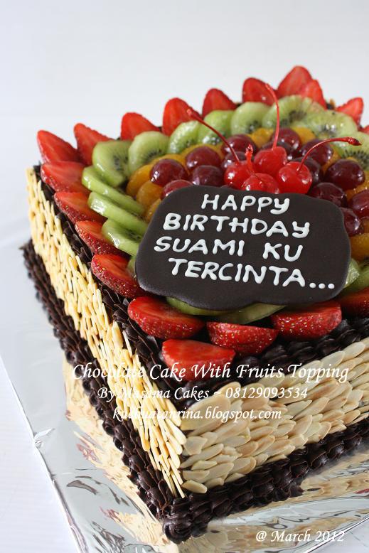 Masama Cakes Chocolate cake with fruits topping Pesanan Mbak Amalia