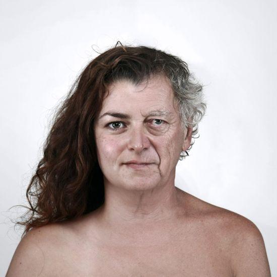 Ulric Collette fotografia surreal photoshop retratos genéticos família rostos misturados autorretratos Filha/pai - Amélie (33 anos) e Daniel (60 anos)