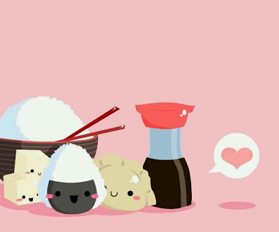 Sushi family illustration