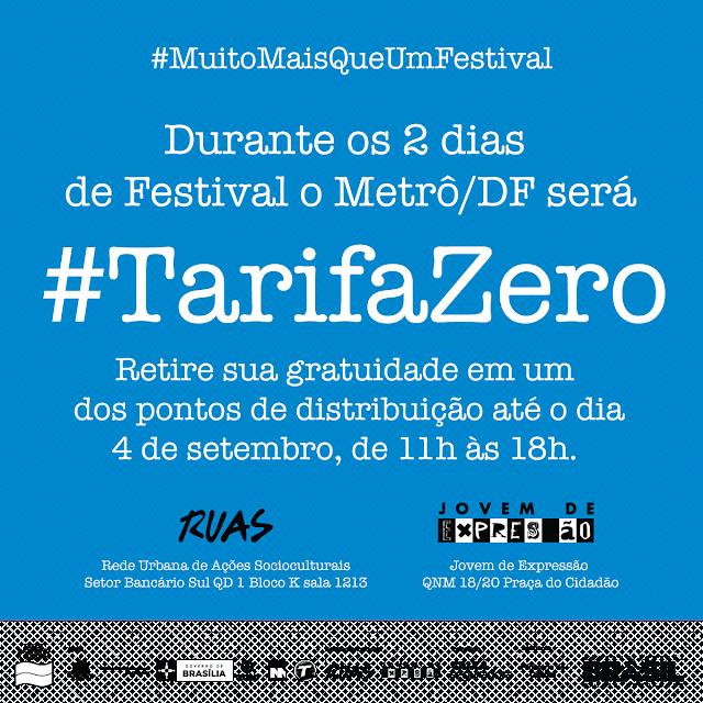 Metrô-DF terá tarifa zero para mil participantes do Festival Elemento em Movimento