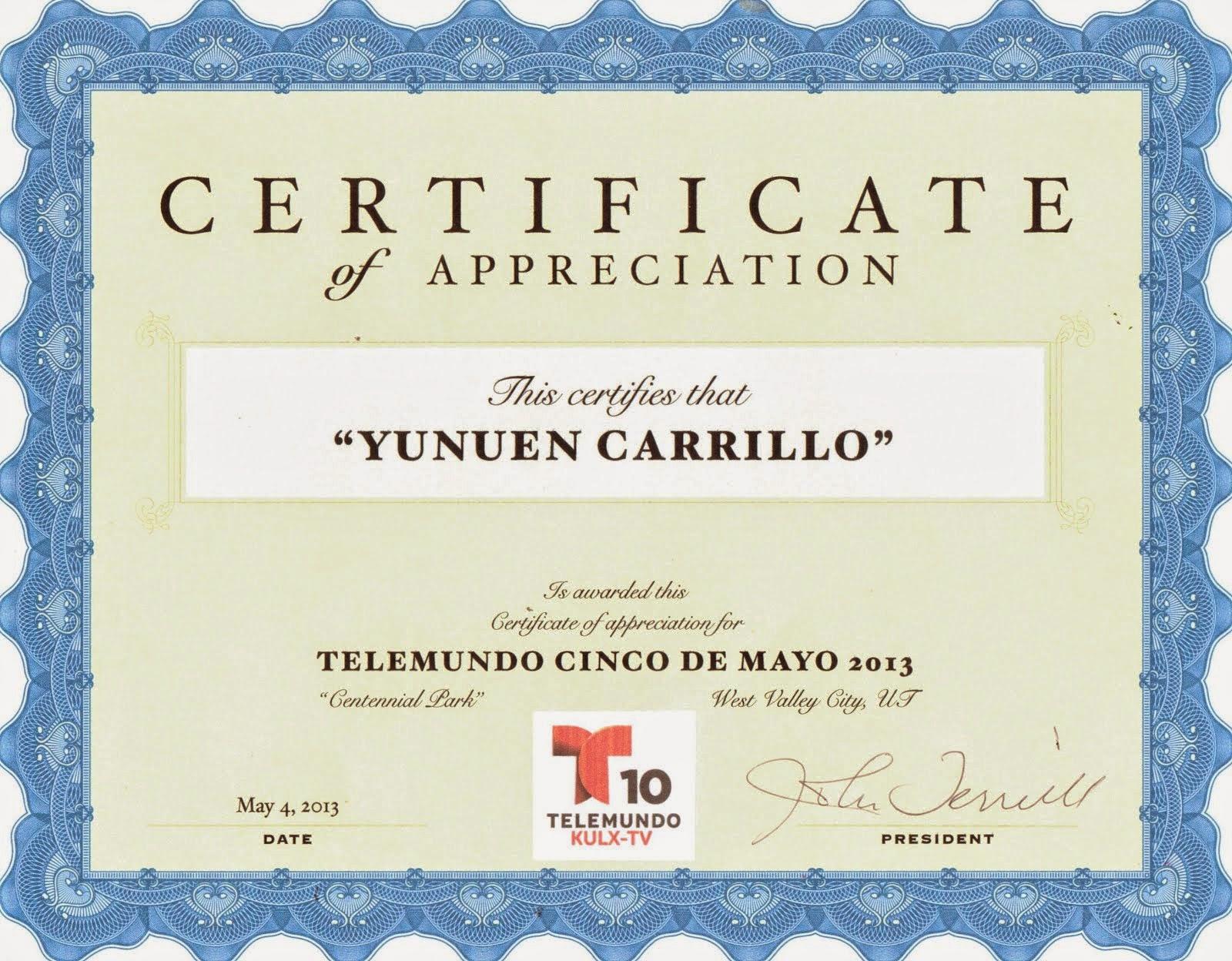 Telemundo Recognition