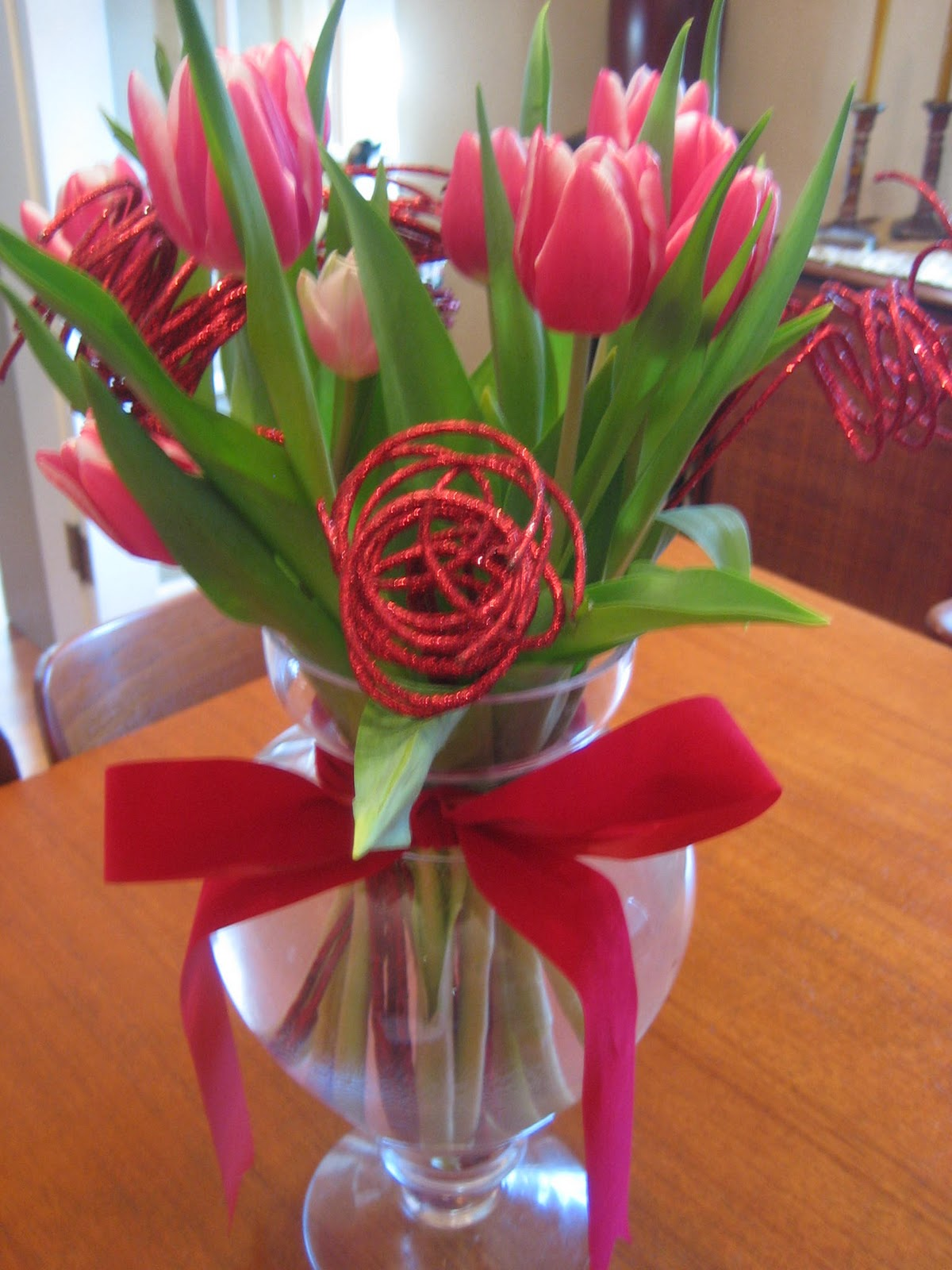 Forever The Hostess: Valentine\'s Day Flowers - A Week Early