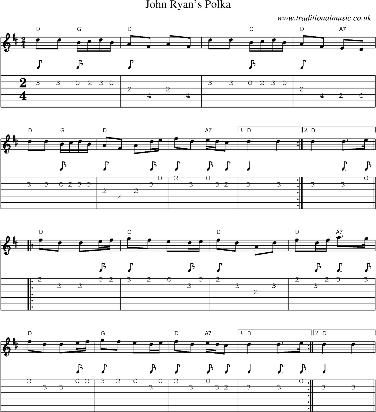 partition guitare folk