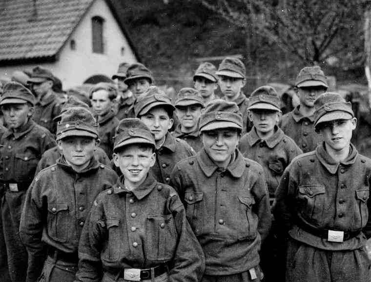 Prisioneros alemanes. Al final de la guerra se enviaban a niños de