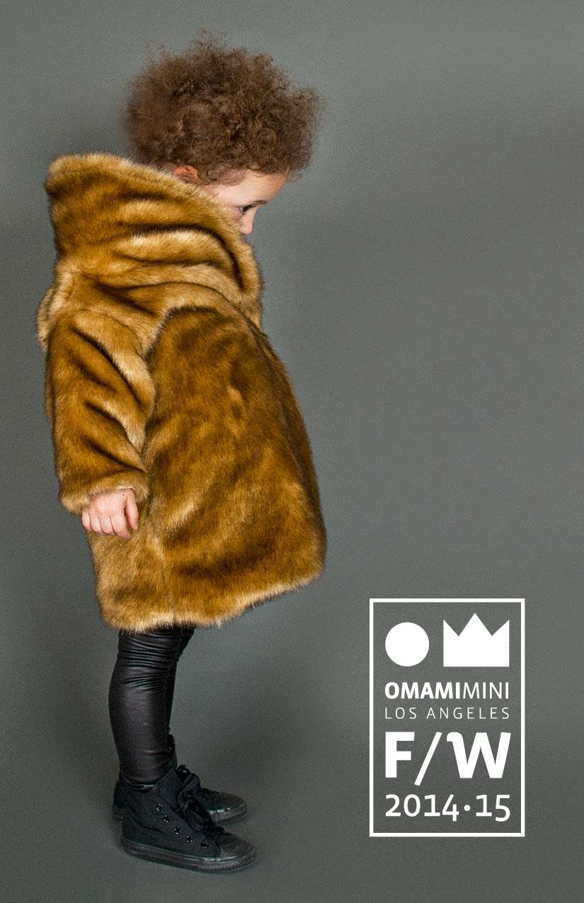 faux leather and fur combo by Omamimini for Autumn/Winter 2014-15 kids fashion collection