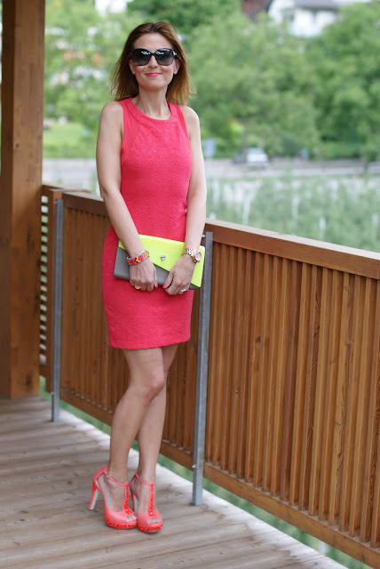 Zara coral dress, abito corallo, summer dress, Loriblu shoes, Fashion and Cookies, clutch Melissa