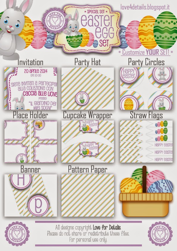 easter printable packege