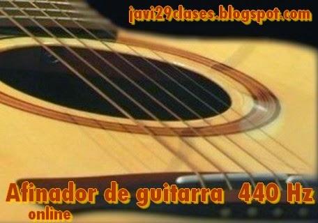 Afinador de guitarra online 440 hz