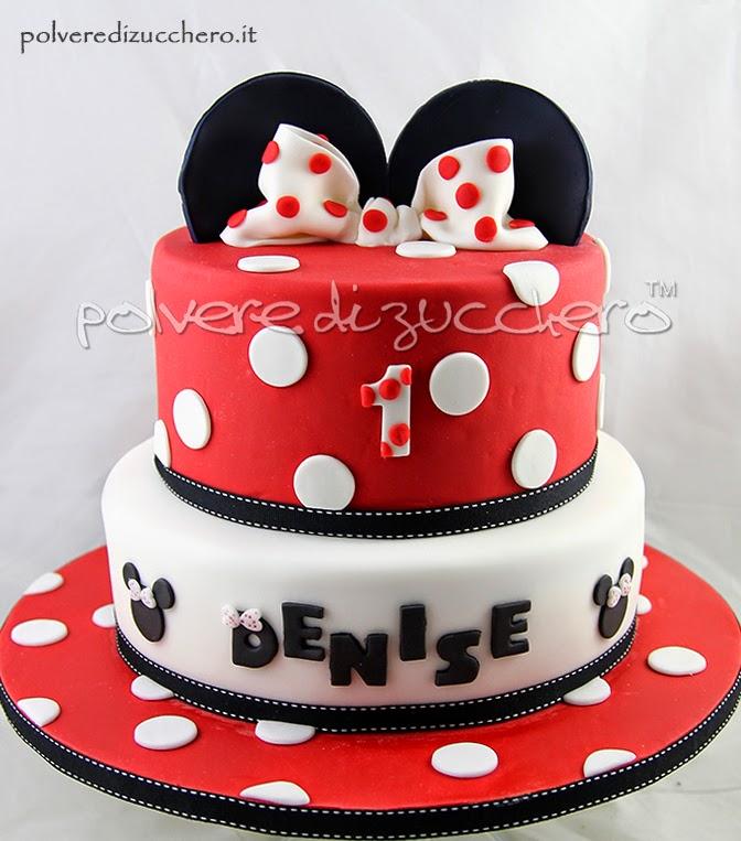 disney minnie pasta di zucchero polvere di zucchero cake design torte decorate