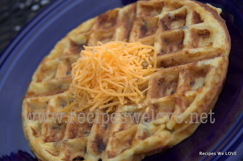 Recipes We Love: Sausage and Cheese Waffles (freezes well)