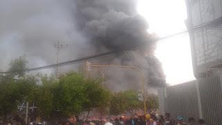 Pasar Sedangdang Pamekasan Terbakar