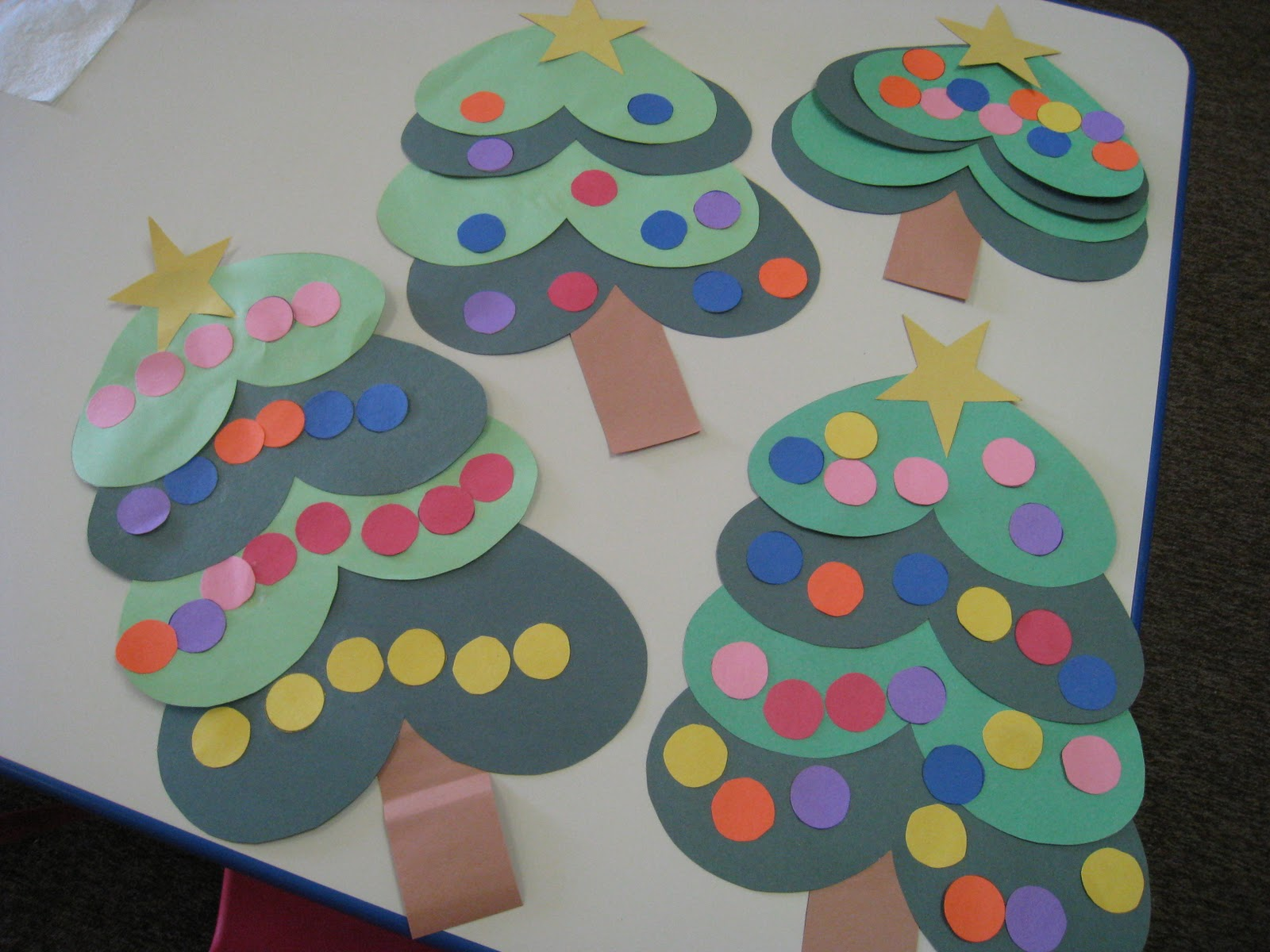 christmas art for preschool mrs s class shaped trees and 190