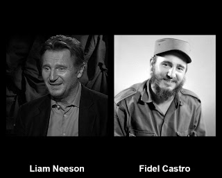 Liam neeson looks like fidel castro
