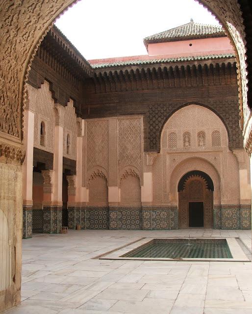 cortile interno Madrasa di Ali ben Youssef