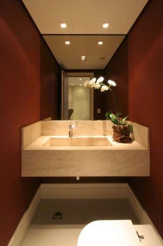 decoracao de lavabos pequenos e simples : decoracao de lavabos pequenos e simples:30 Lavabos pequenos e modernos – veja dicas de como ousar e decorar