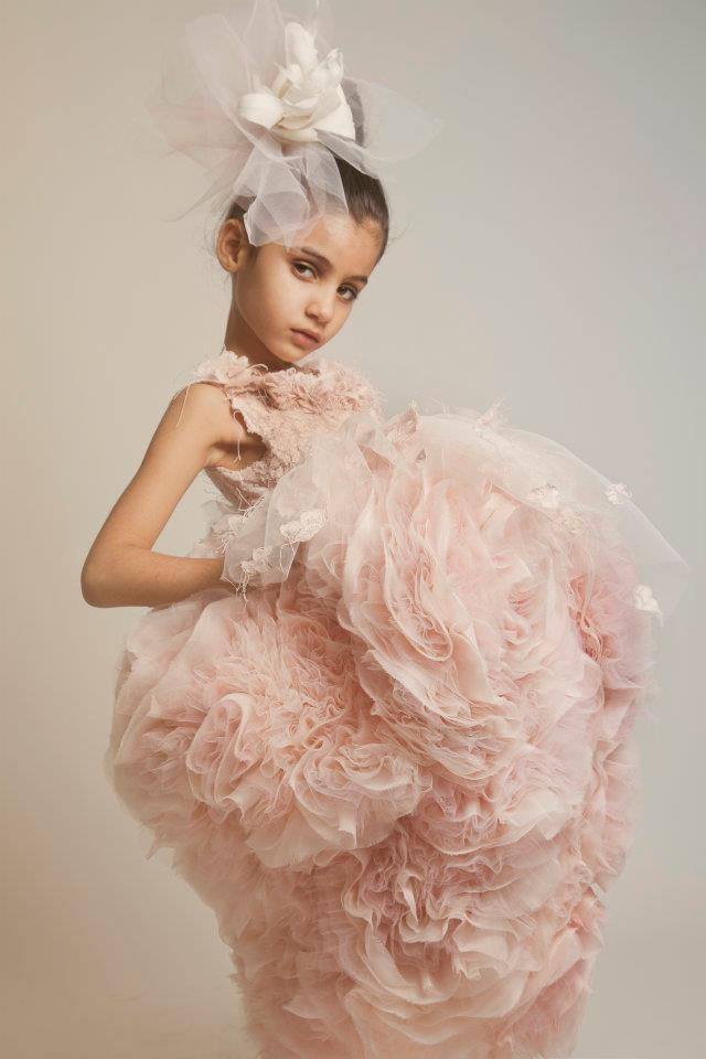 Postmodern royalty abloom in pink for American haute couture