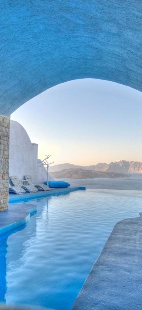 Pool at astarte suites santorini greece for Santorini astarte suites
