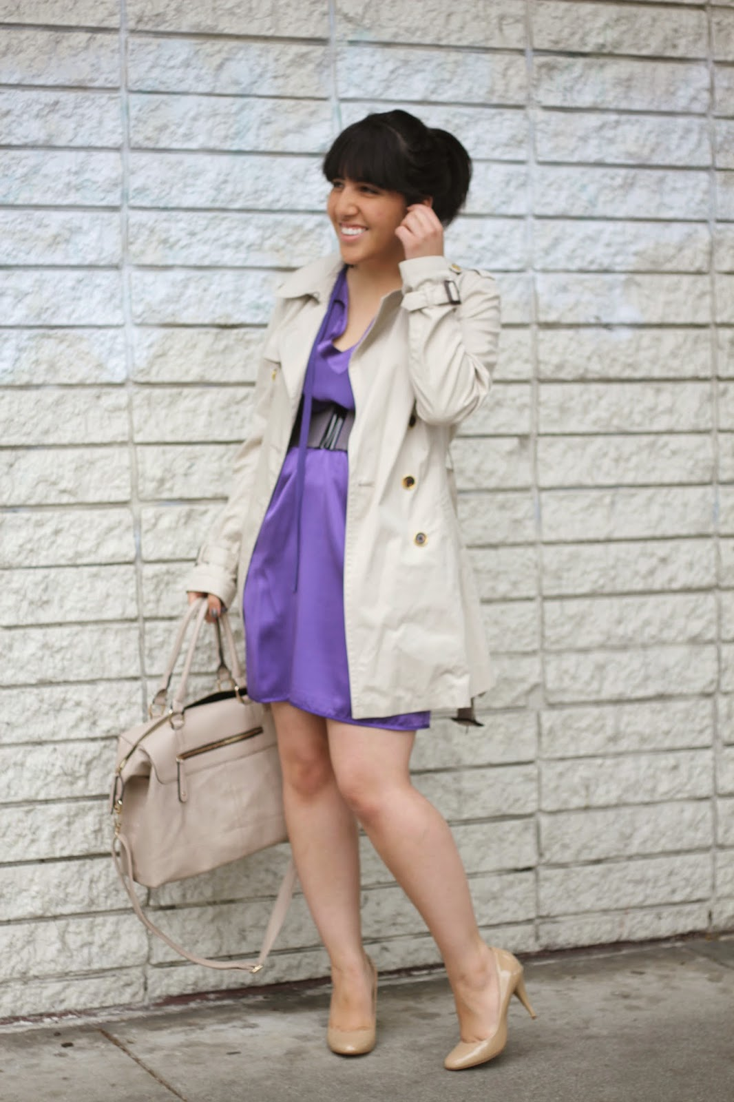 Silk Dress and Trench Coat