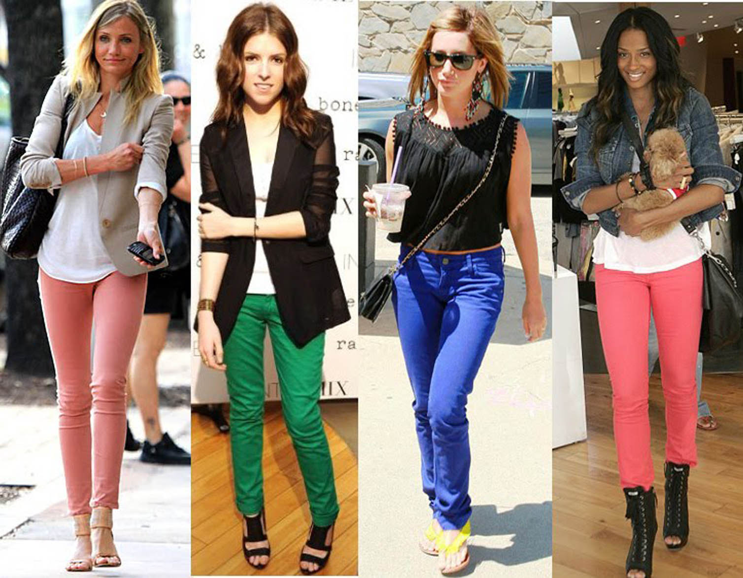 Birdwire: How to wear the trend, COLOURED JEANS