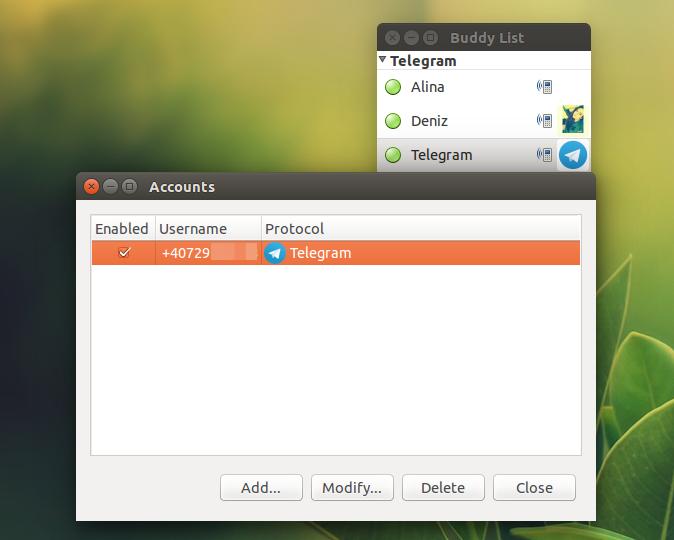 Pidgin Telegram Ubuntu