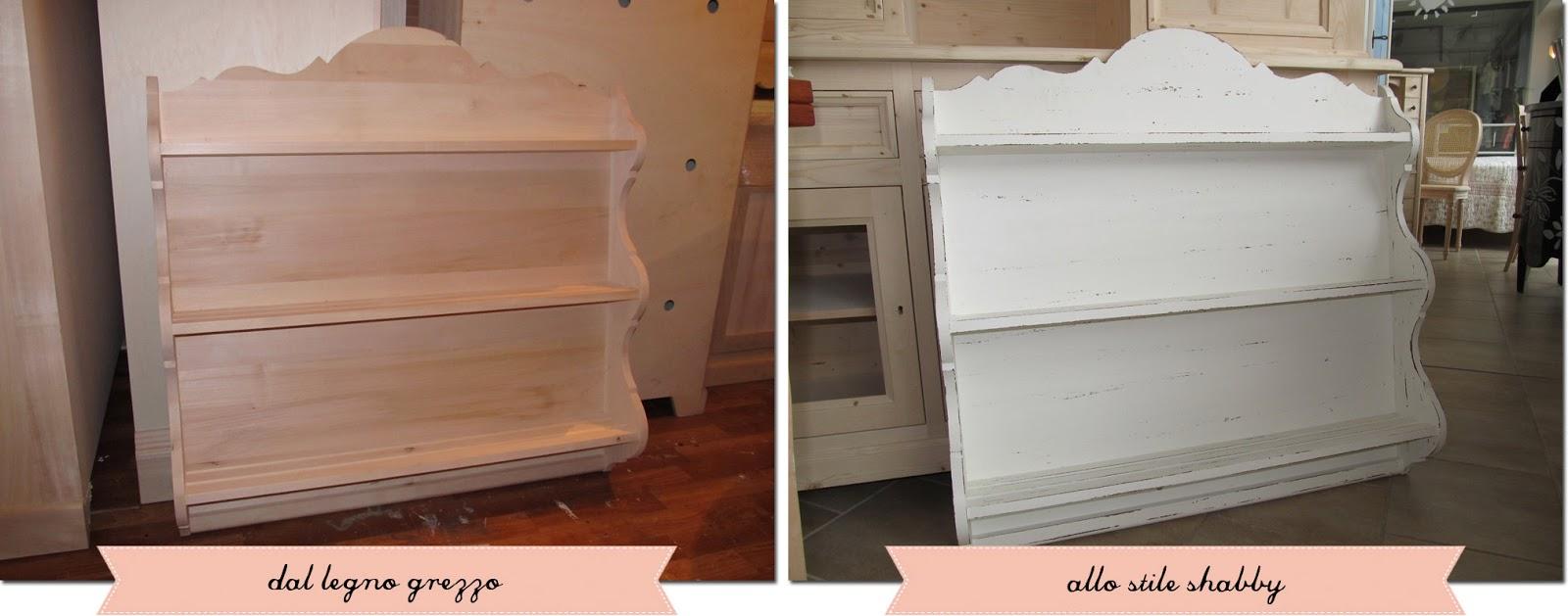 Una piattaia tanti stili shabby chic interiors - Dipingere mobili ikea ...