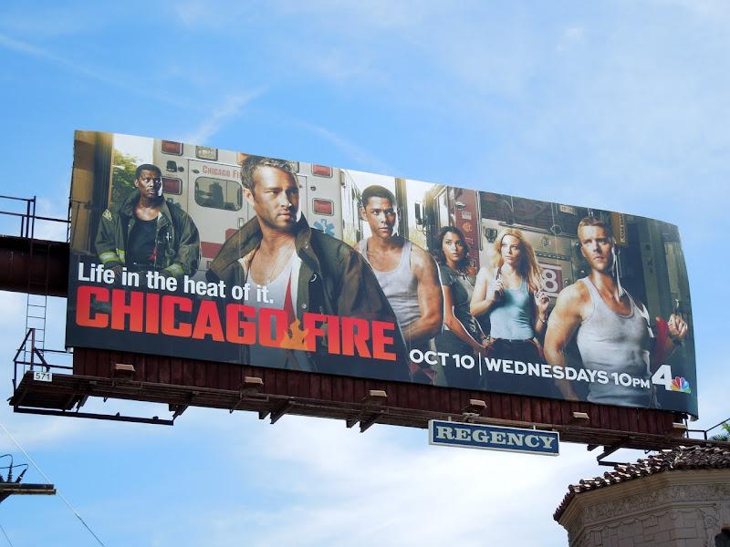 Chicago Fire NBC billboard