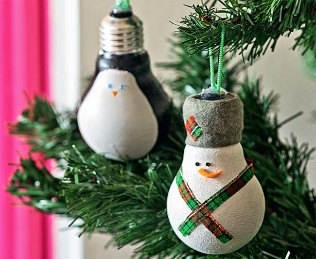 Elegant Light Bulb Craft For Christmas Ornament