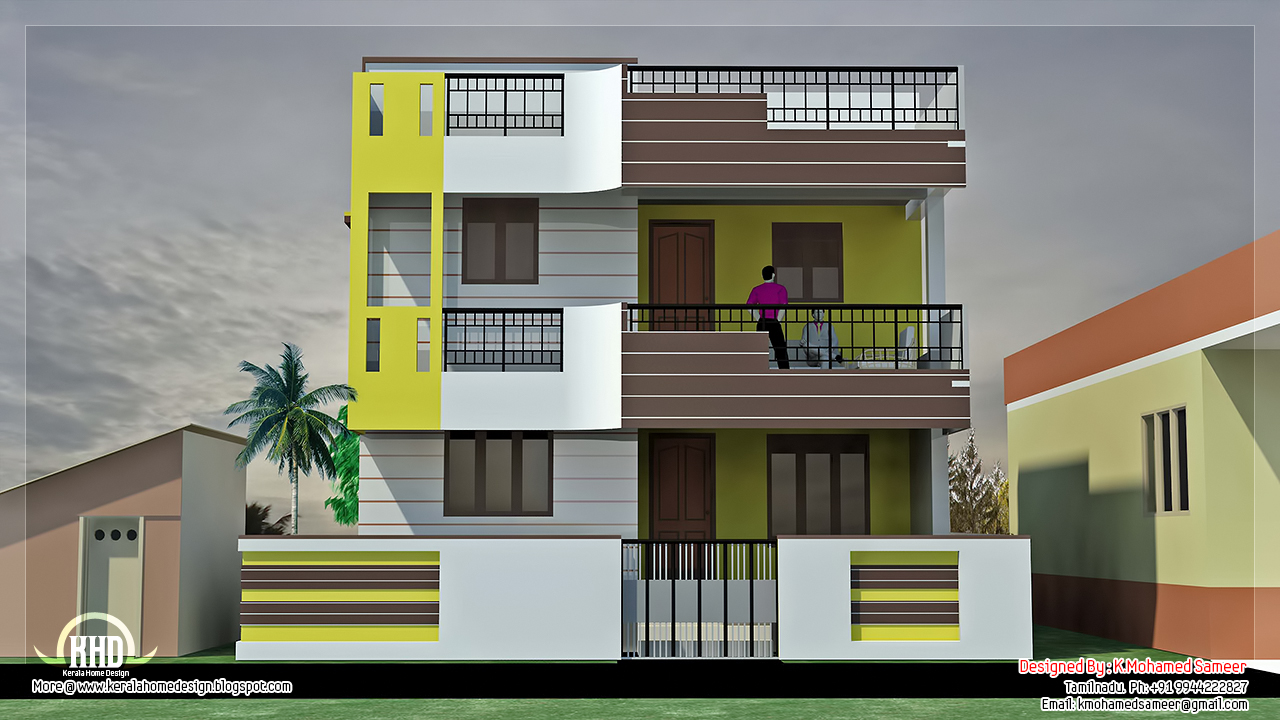 December 2012 kerala home design and floor plans for 2 bhk house plans south indian style