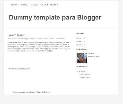 Plantilla en blanco para Blogger [Enlace corregido]