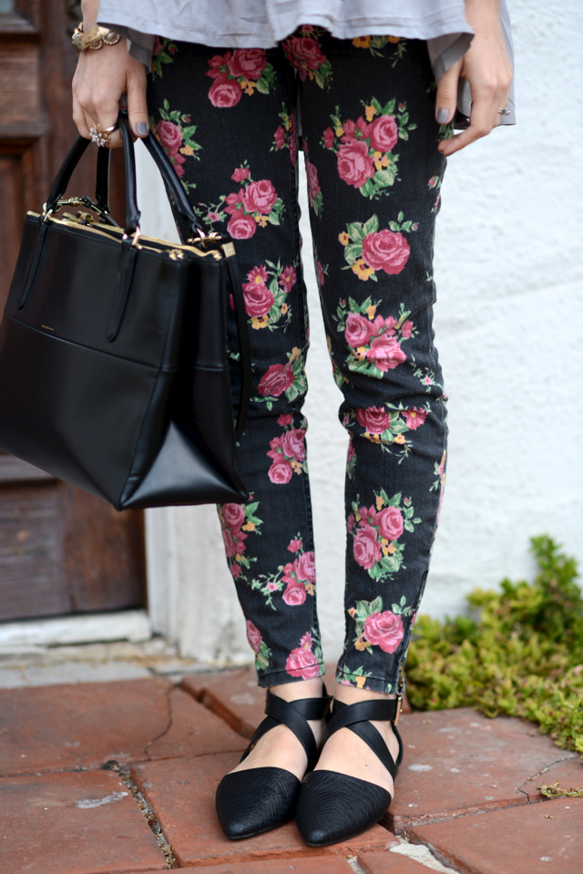 black floral jeans, M Loves M