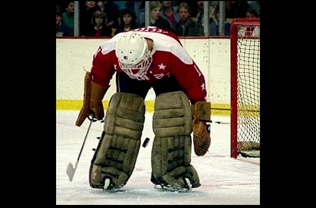 If you imagined a goalie like Pete Peeters giving birth to a puck, it would look something like this... but why would you imagine that?