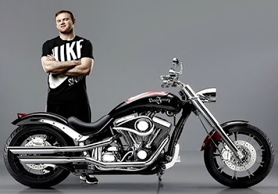 Motocicleta  Customizada do atacante Wayne Rooney