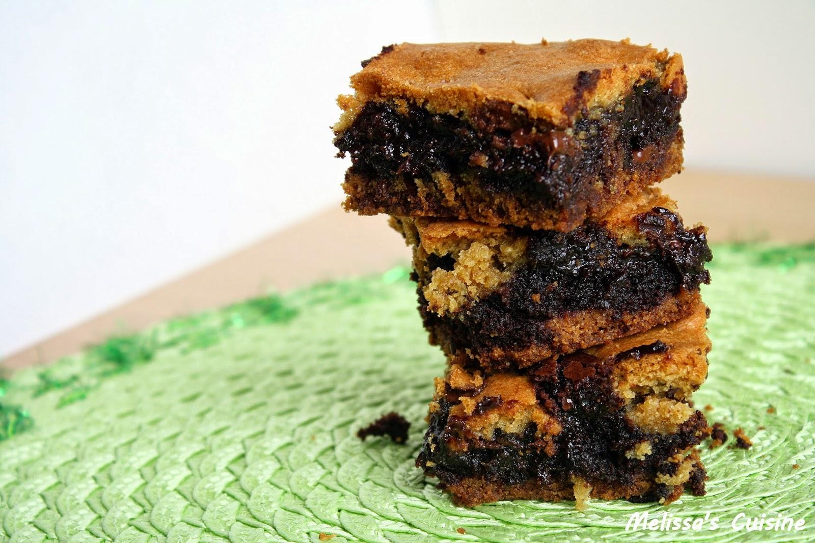 Melissa's Cuisine:  Chocolate Chip Cookie Brownie Bars