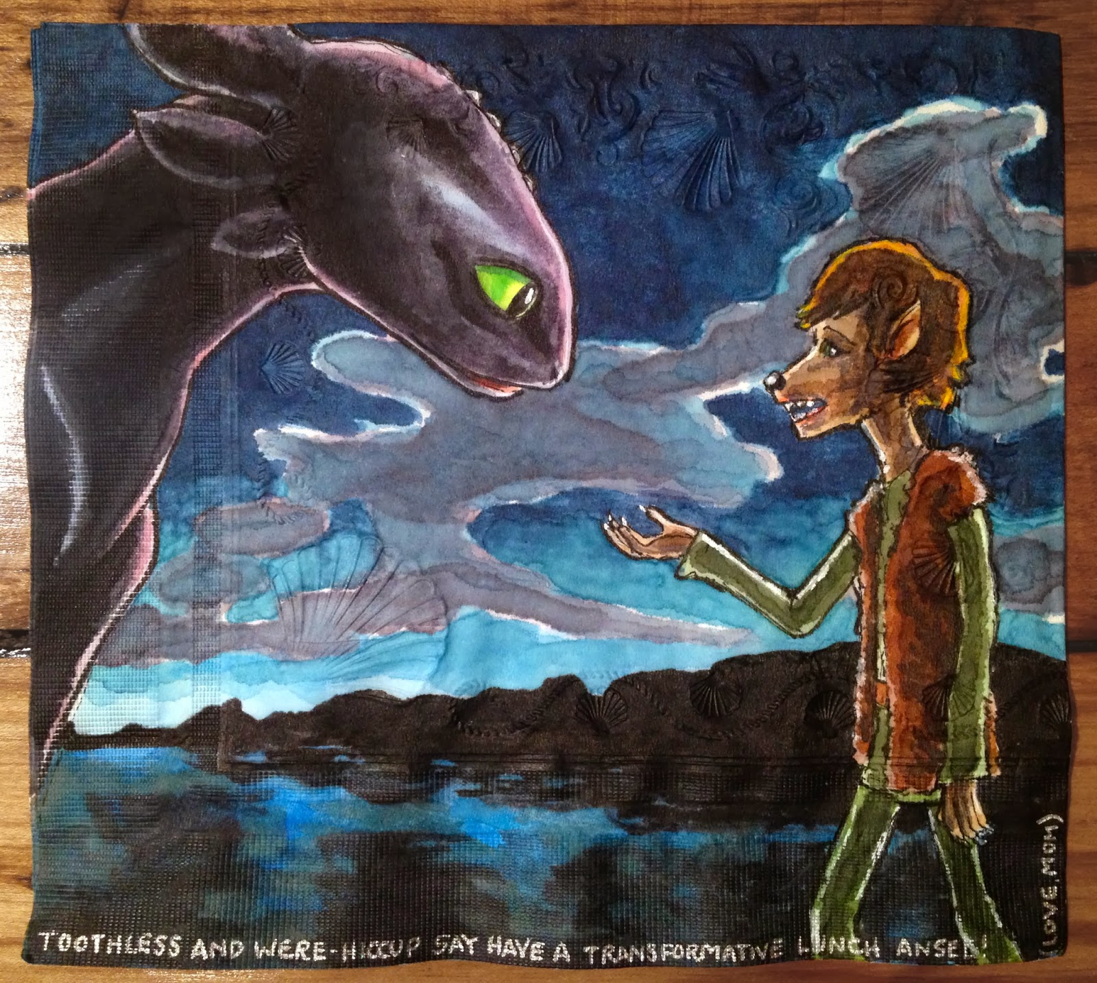 Daily Napkins: Toothless With Werewolf Hiccup - photo#19