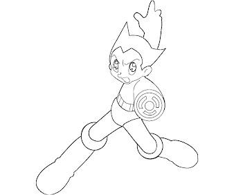 #7 Astro Boy Coloring Page