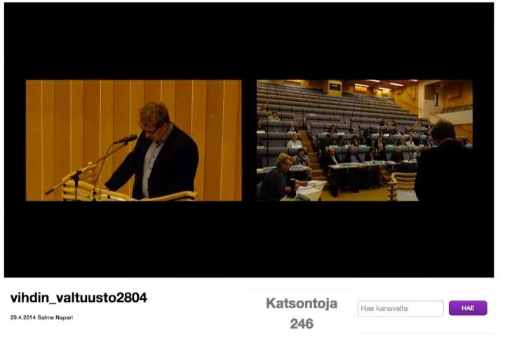 Dimi Doukas koordinoi Vihdin kunnanvaltuuston videointihankkeen