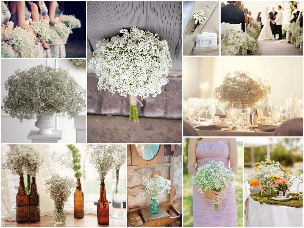 De lovely affair babys breath wedding decor small flower big impact photos via wedding girl junglespirit Image collections