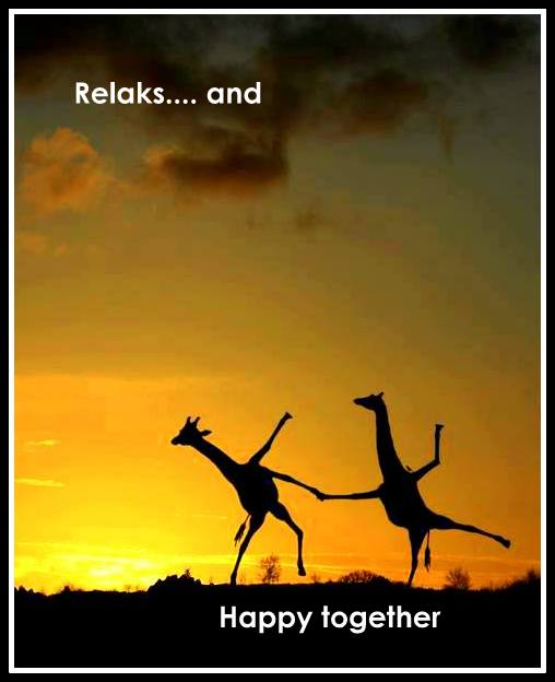 relaks and happy together