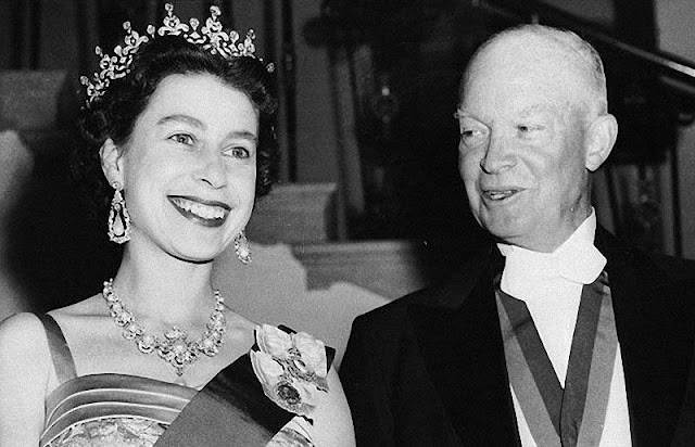 Queen Elizabeth and President Dwight D. Eisenhower