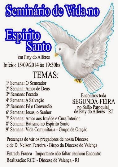 Seminário de Vida no Espírito santo em paty do Alferes