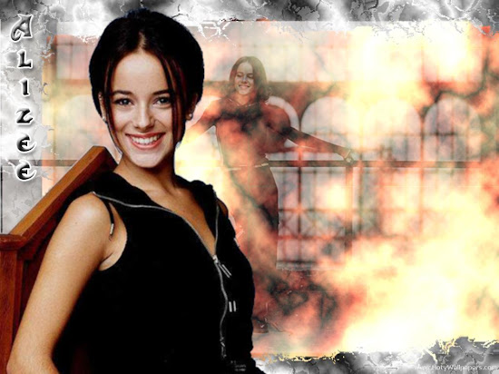 Alizee Singer Model Wallpaper