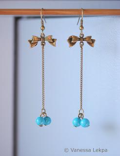 boucles d 'oreille poétiques romantique turquoise vanessa lekpa