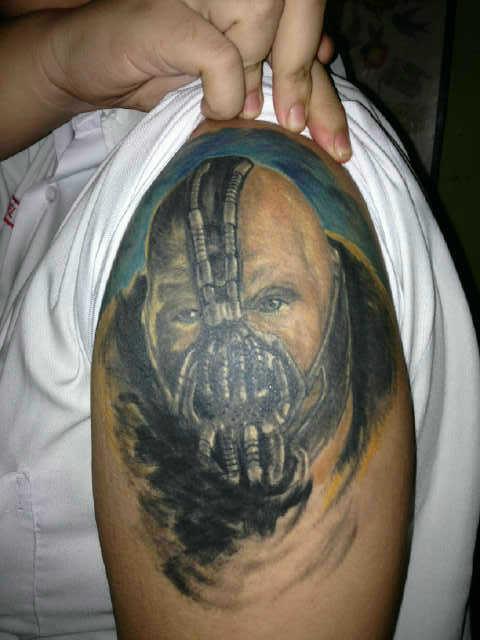 TATTO PICTURE: Bane Tattoo - The Darknight rises