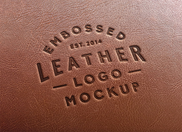 Download Logo Mockup PSD Terbaru Gratis - Leather Stamping Logo Mockup