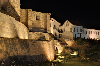 Night view of Qoricancha and Convent of St. Dominic, Cusco
