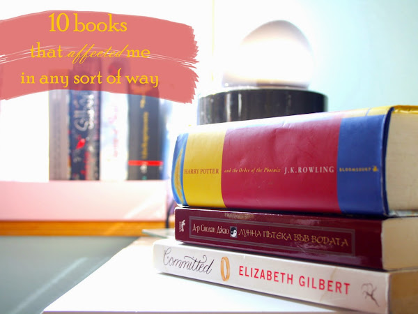 BOOK Challenge | 10 book that affected me in any sort of way