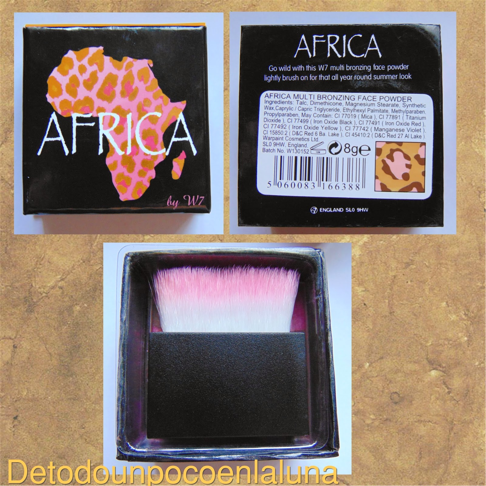 polvos bronceadores Africa w7