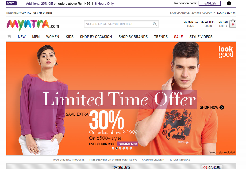 Myntra online shopping india