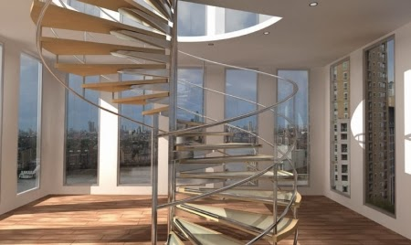 wood spiral stairs designs