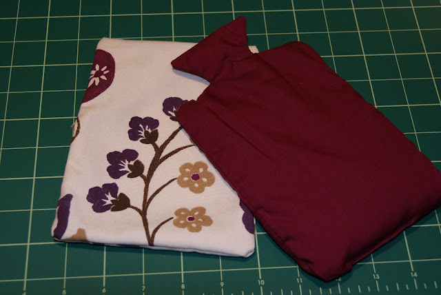 Sew your own microwavable rice filled hot water bottle heat pack!